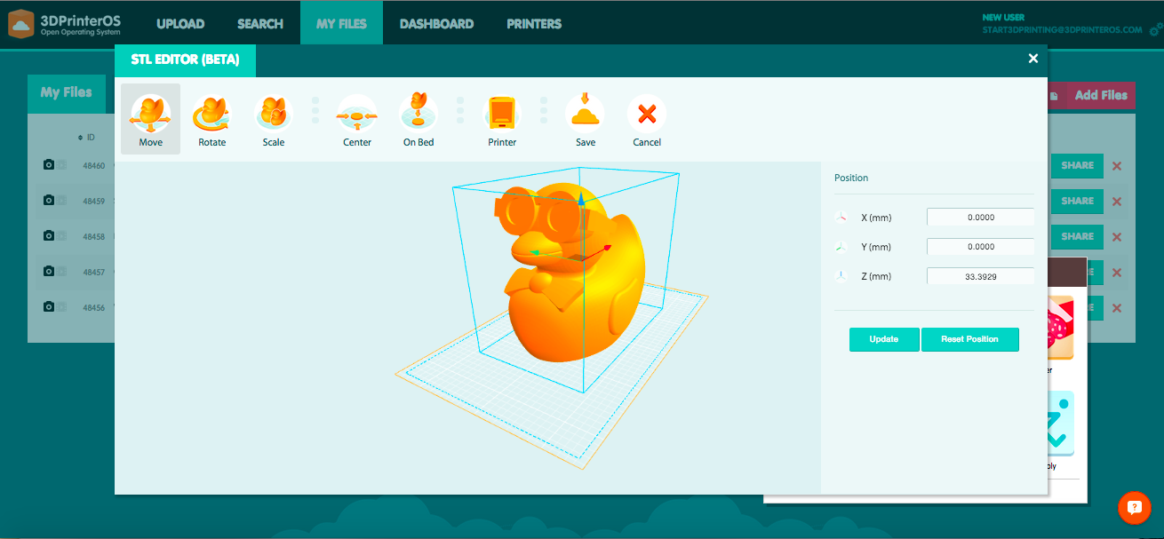 3DPrinterOS - STL Editor