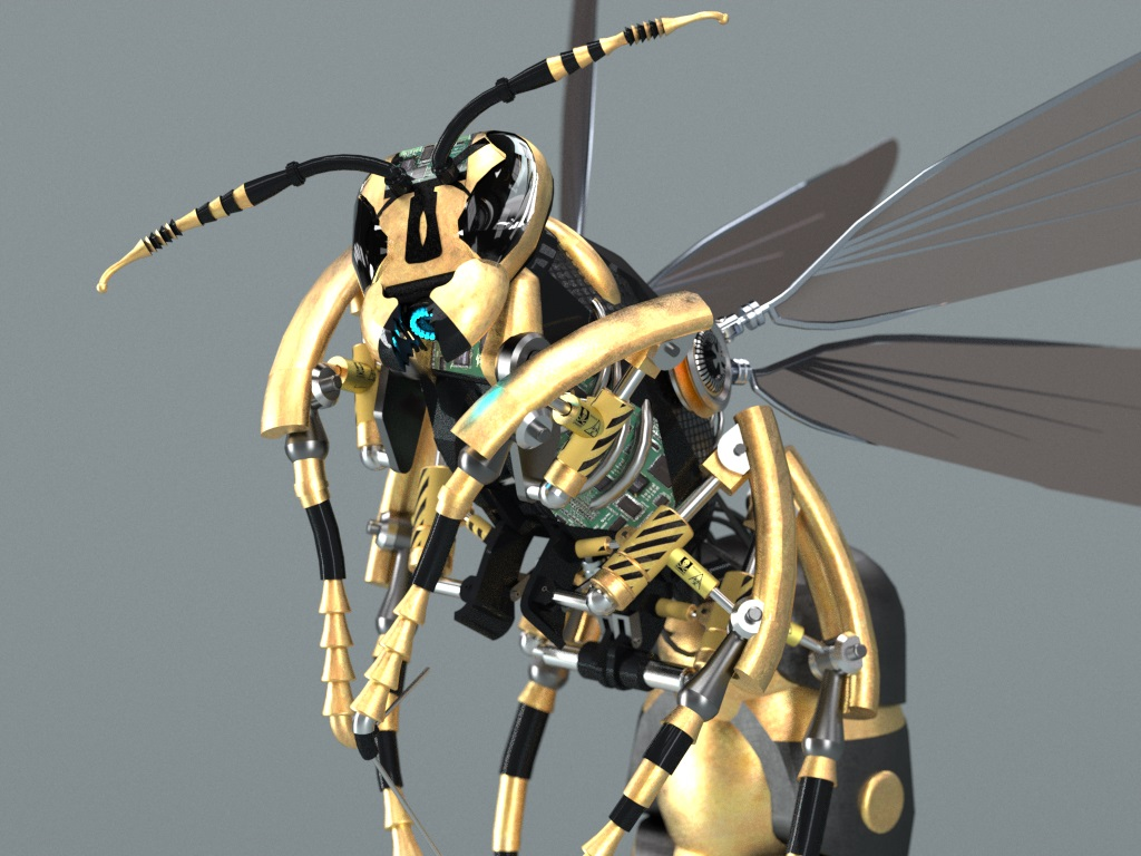How to Design a Robotic Wasp Using 3D Modelling Software