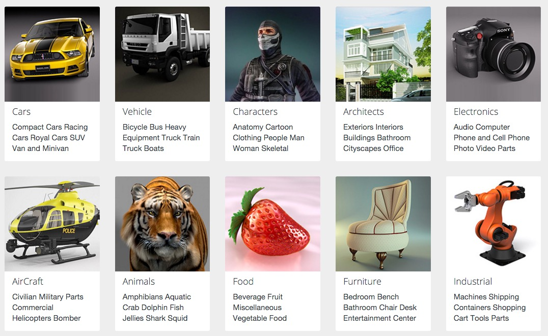 Buy and Sell 3D Models on 3DExport Online Marketplace