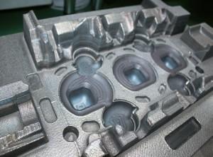 Cylinder head mold