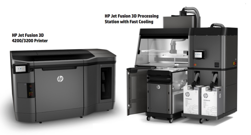 HP MultiJet Fusion 3D Printer and Processing Station