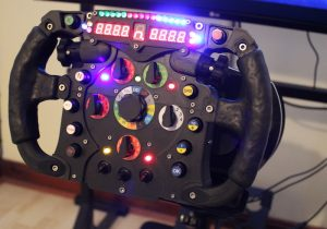 The finished steering wheel - ready to drive