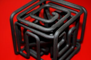 3d printed cube labyrinth
