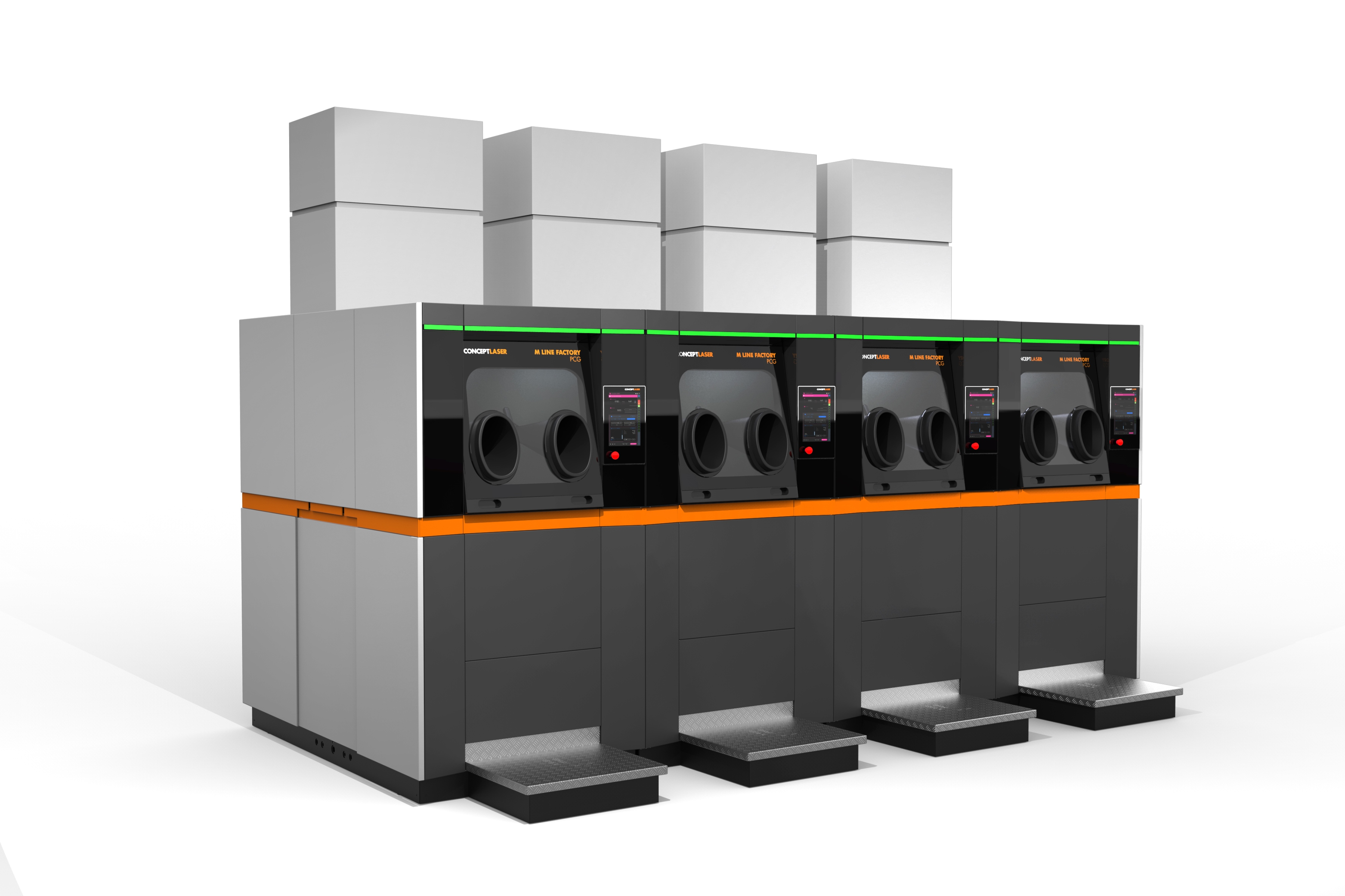 Several processing units may form a central metal powder preparation unit Image: Concept Laser