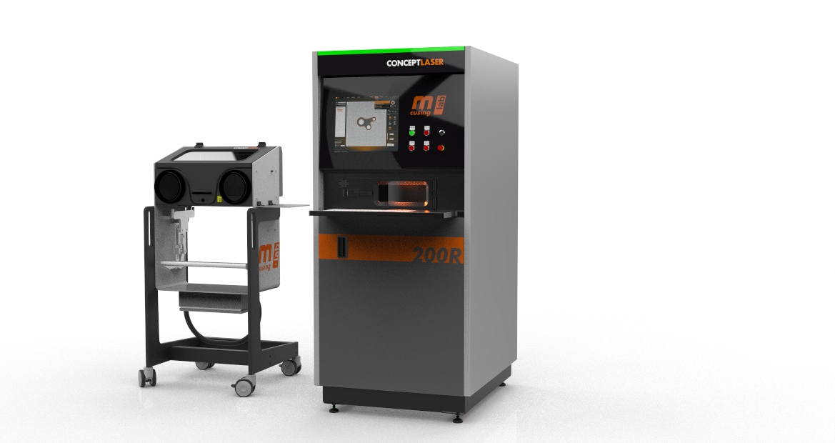 Premiere of the Mlab cusing 200R: larger build plate, bigger build volume and more laser power. Image: Concept Laser