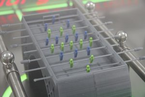 Figure 1: Model of the foosball table, printed from PLA with the X350Pro