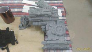 3d printed Starcraft Hyperion Battlecruiser