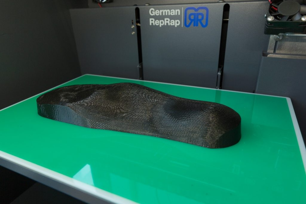 """Figure 1: A """"positive"""" of the foot's shape printed with the German RepRap X350pro"""