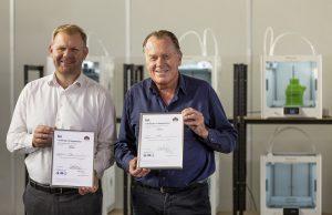 Paul Heiden, Senior Vice President Product Management and Jos Burger, CEO at Ultimaker (PRNewsfoto/Ultimaker)