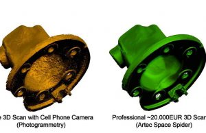 Comparison of Free 3D scan with Professional 3D scan