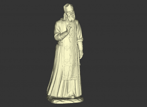 Image 1. A screenshot of a 3D scan of a statue